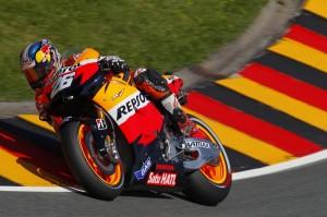 Dani Pedrosa durante el Gran Premio de Alemania de MotoGp 2012