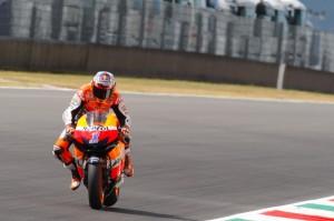 Casey Stoner durante el Gran Premio de Italia