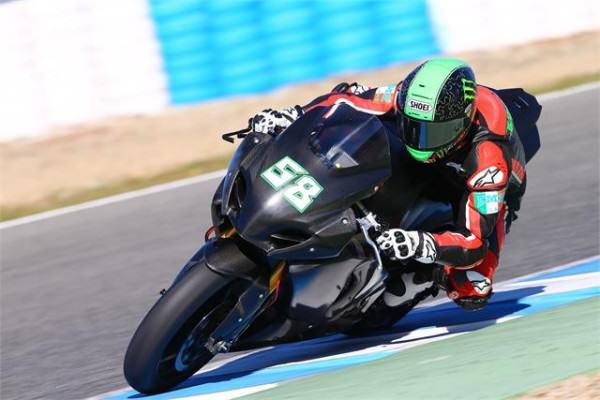 Eugene Laverty en Jerez a finales de la temporada pasada