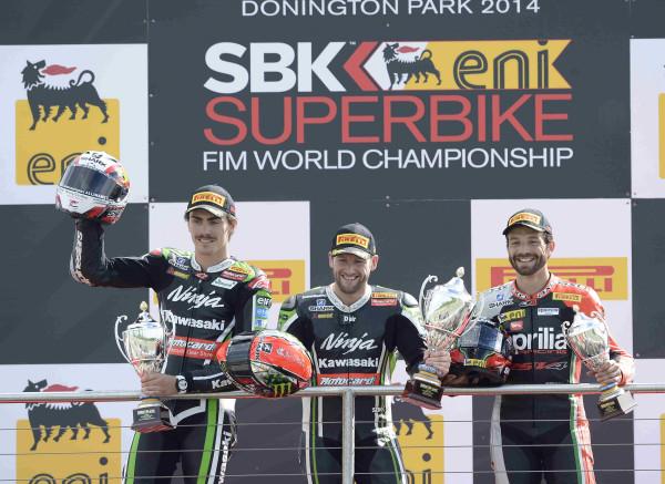 Podium carrera 2 Donington Park
