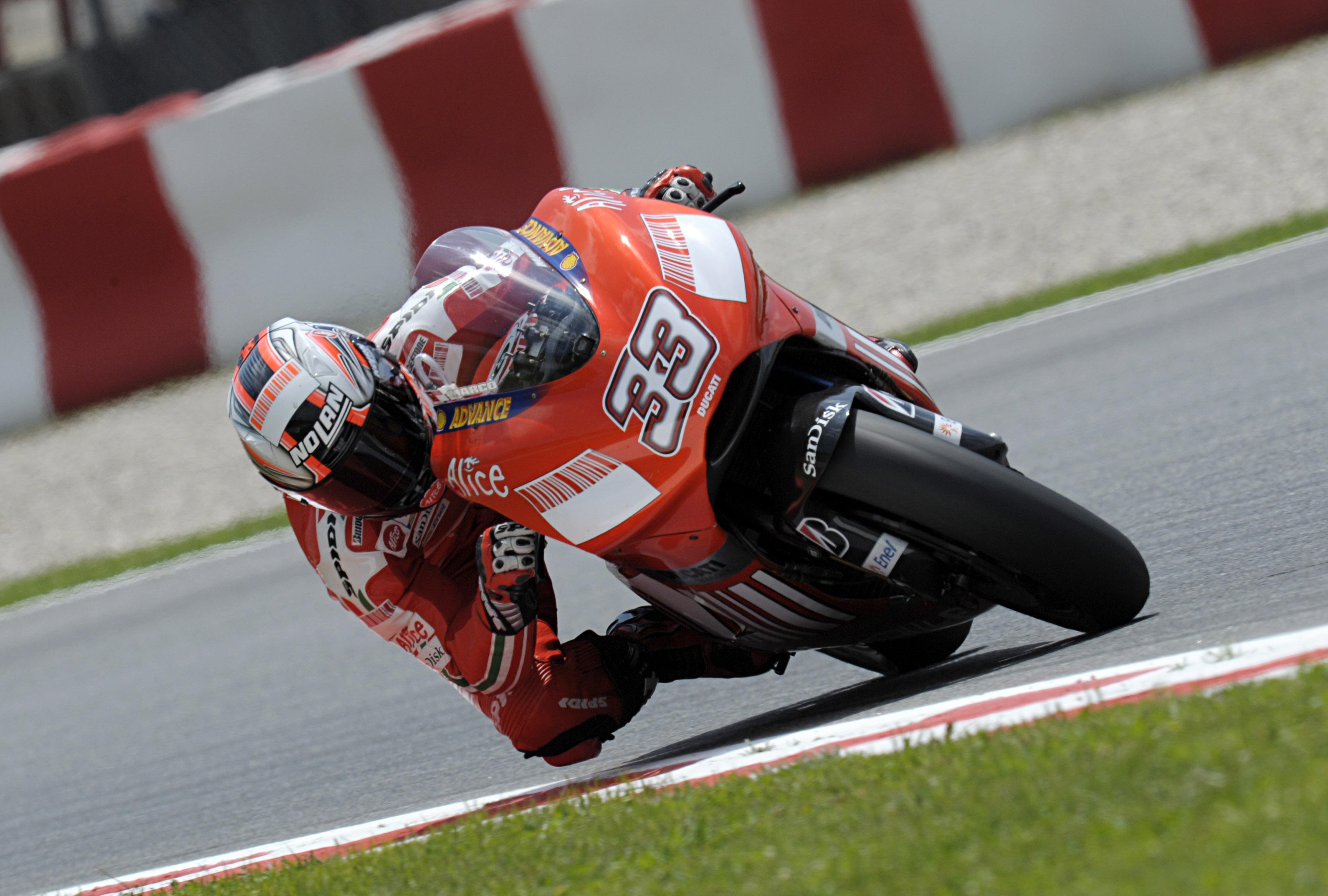 Marco Melandri en su época con Ducati en MotoGp - © Ducati Press