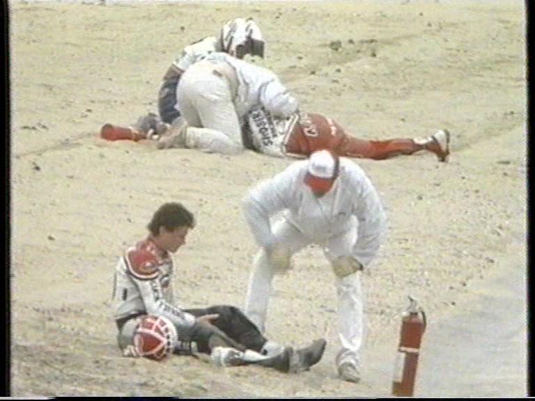 Accidente Magee Shobert Laguna Seca 1989