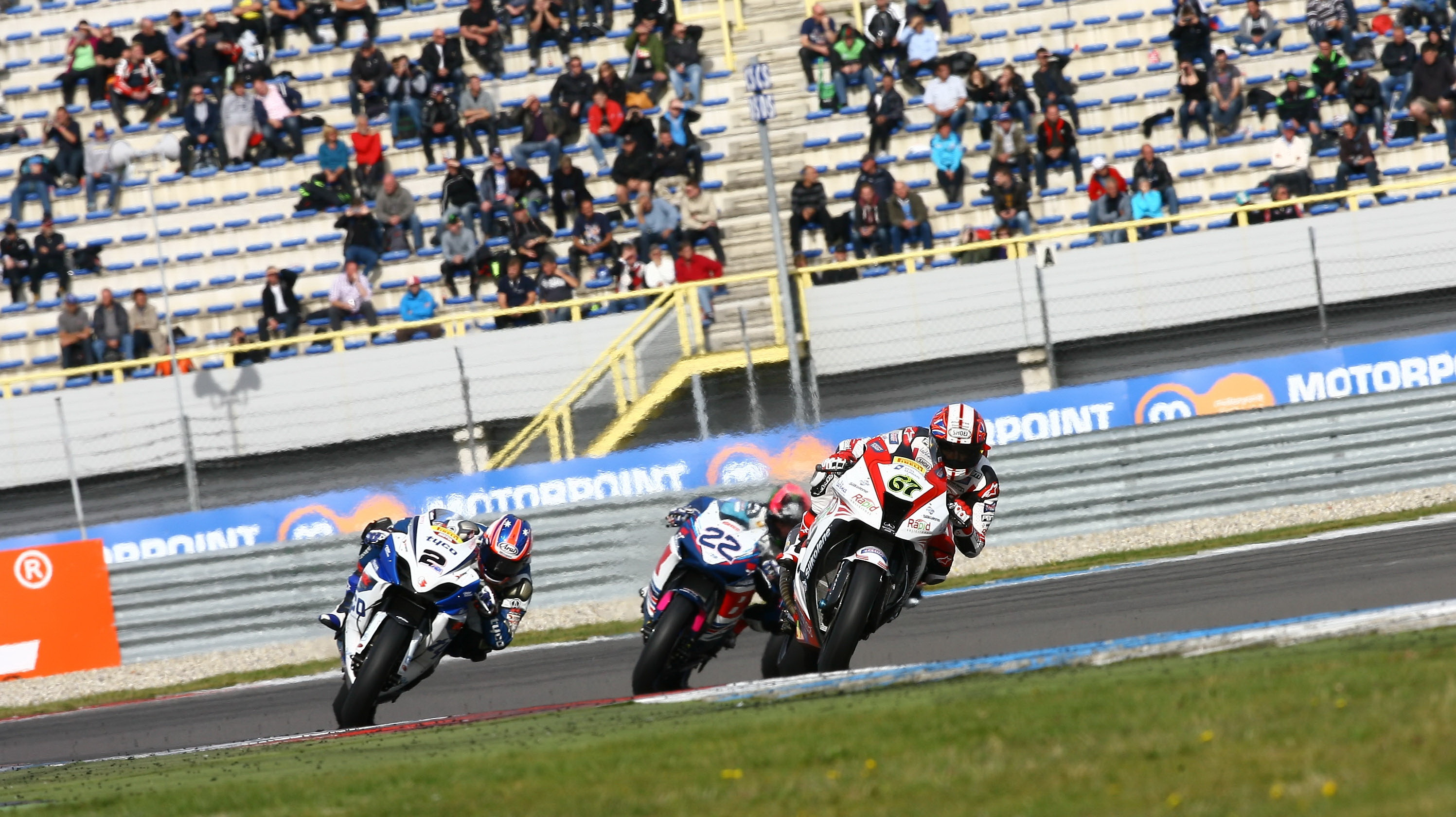 Shane Byrne, Josh Brookes, Alex Lowes, Assen, Sept 2012
