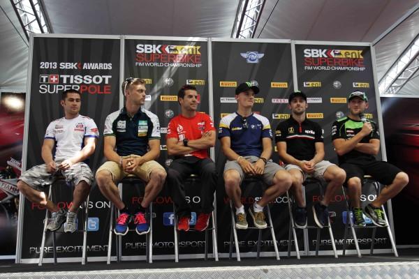 Pre-event Superbike riders