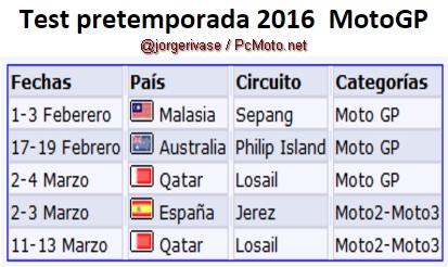 Calendario-Pretemporada-MotoGp-2016