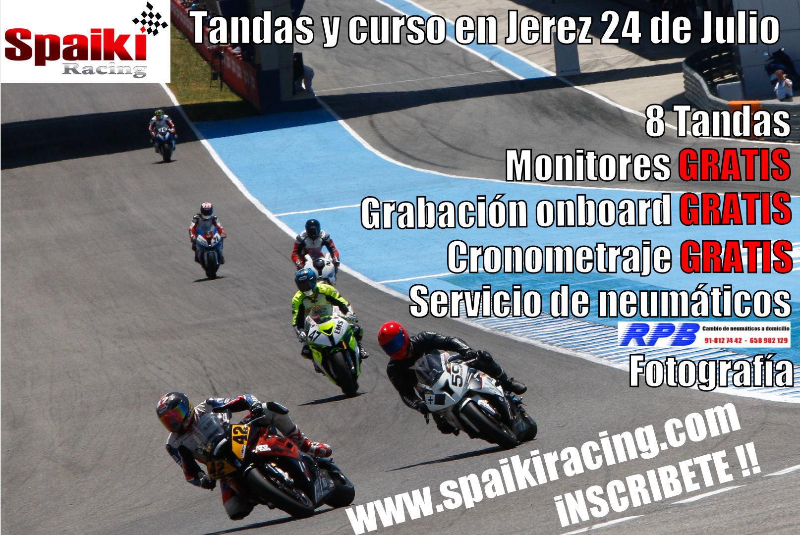 Cartel Spaiki Racing Jerez