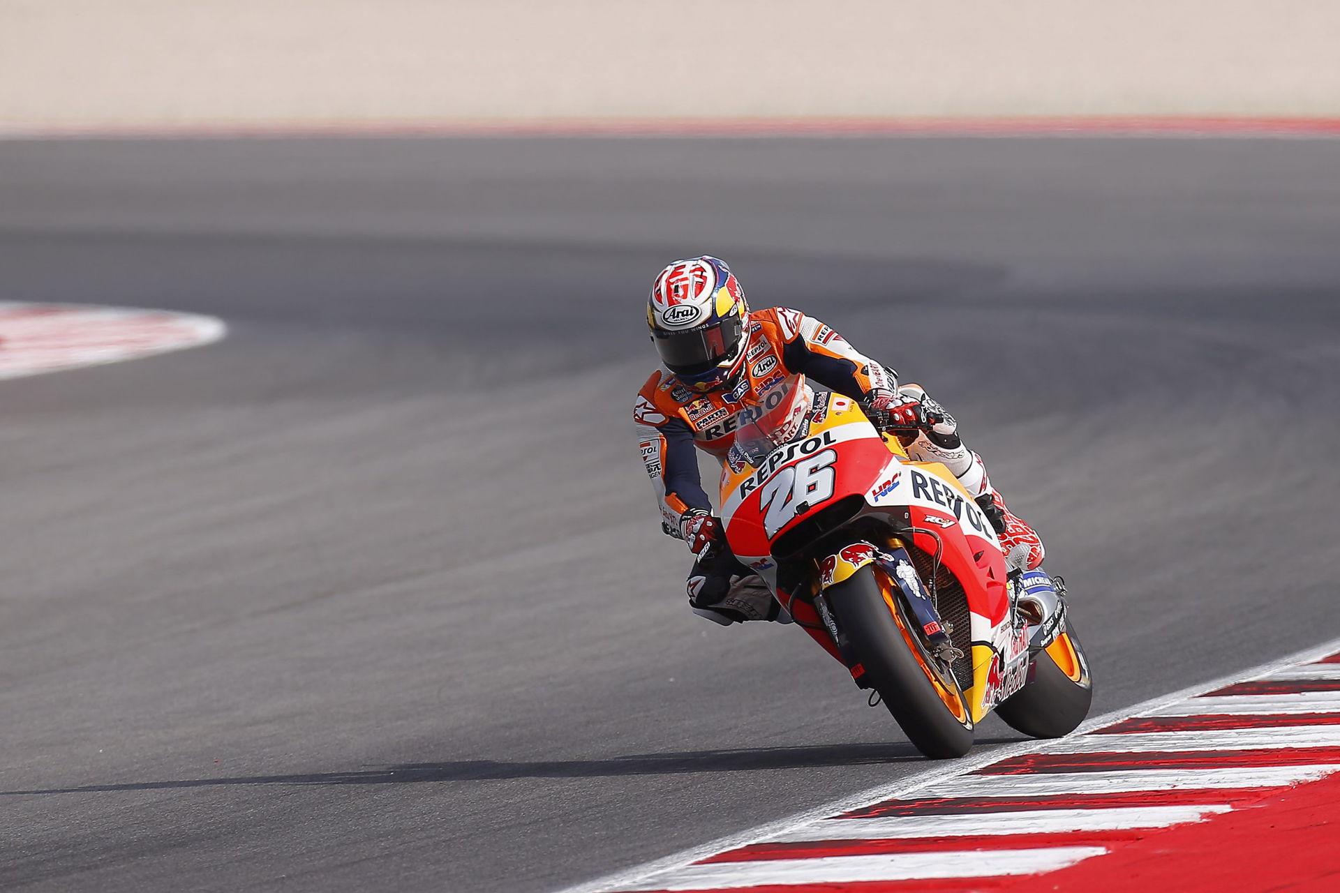 Dani Pedrosa durante el Gran Premio de San Marino