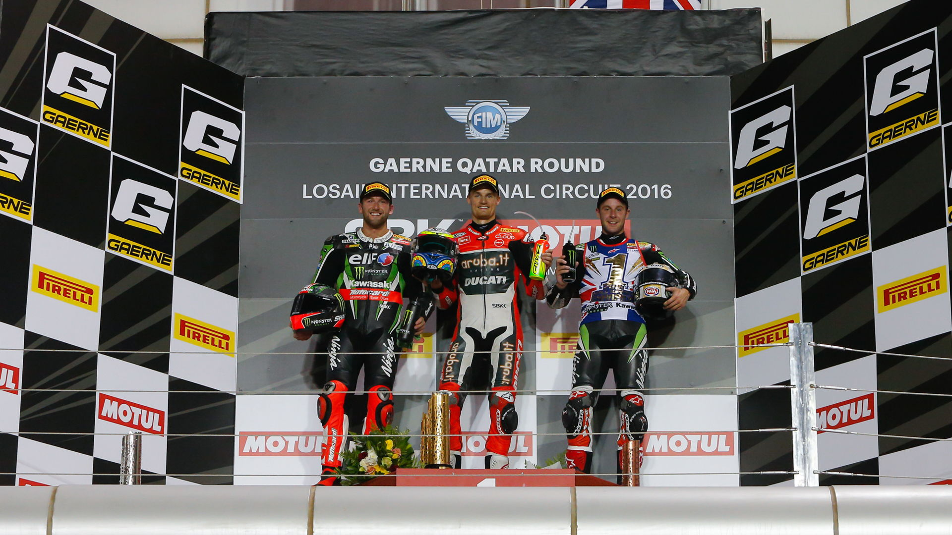 WorldSBK Qatar Podium Carrera 2