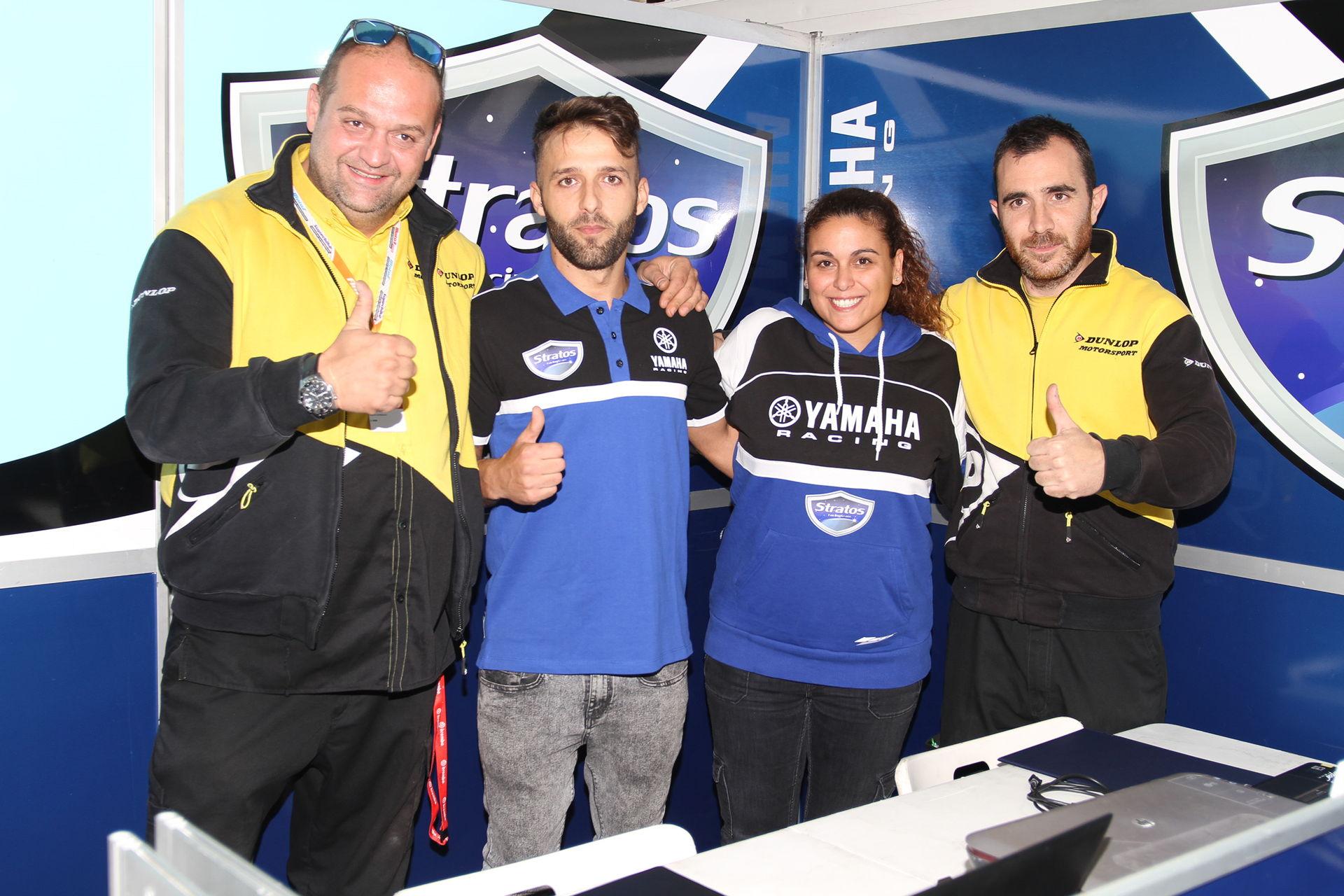 Ángel Rodríguez con el Team Yamaha Stratos