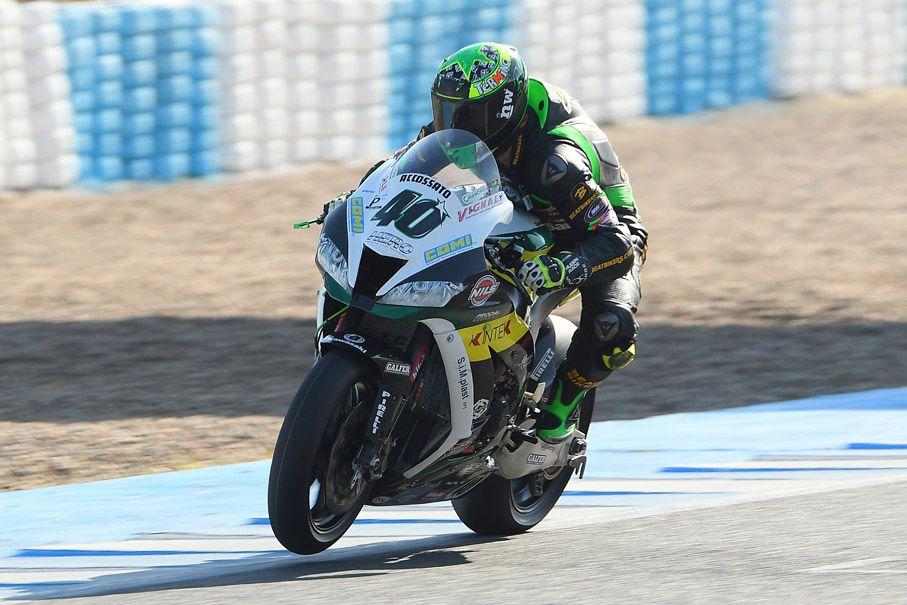 Román Ramos durante los test en Jerez