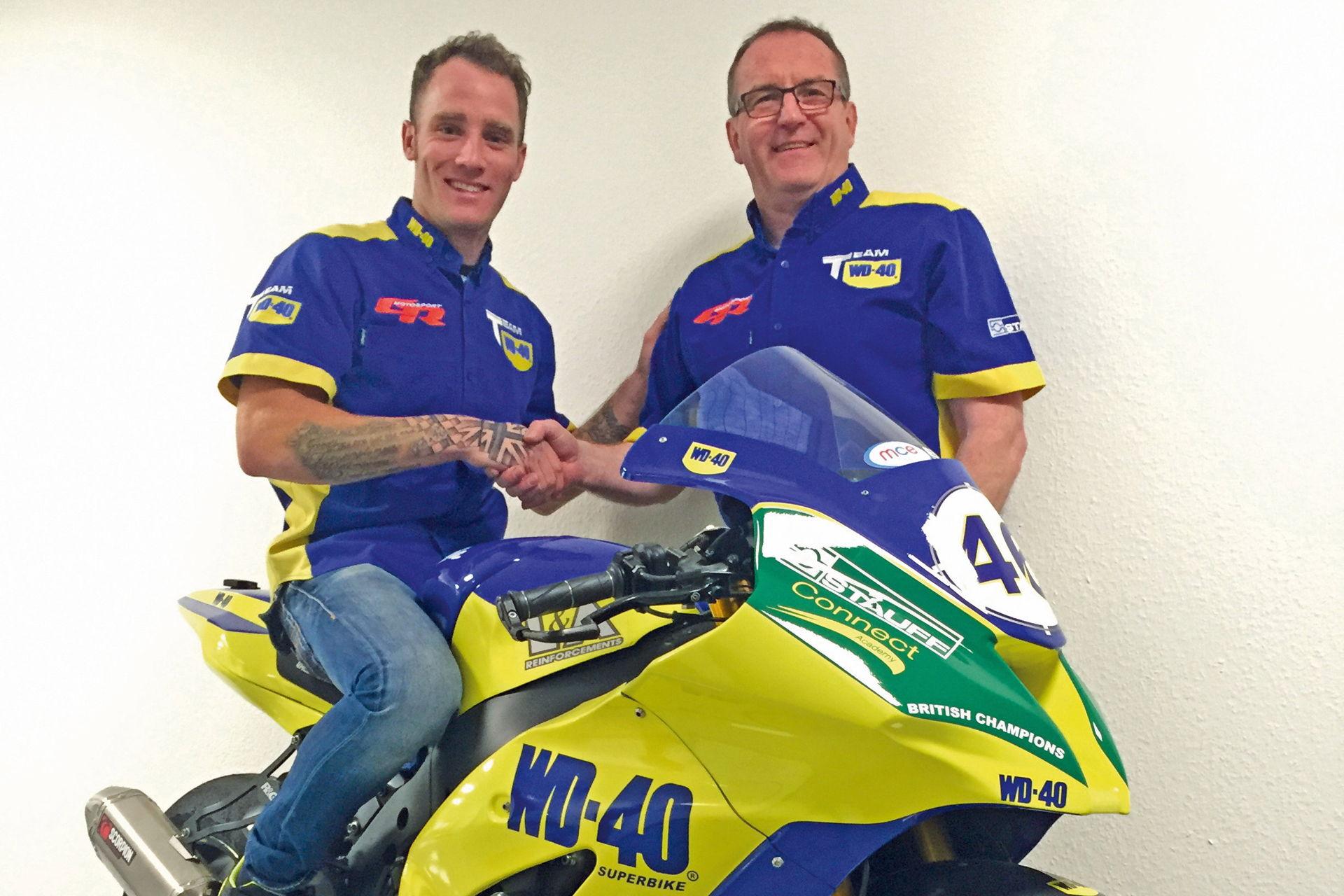 Tommy Bridewell con la Kawasaki del equipo WD-40