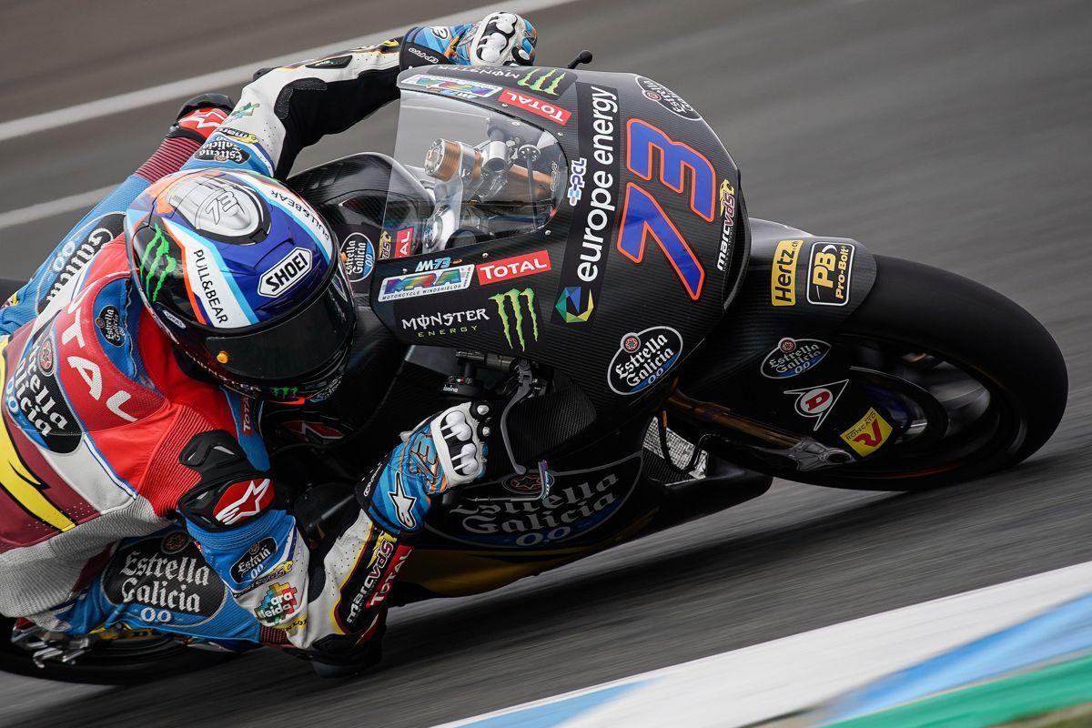 Álex Márquez durante los test de Moto2 en Jerez
