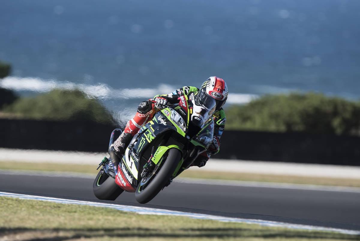Jonathan Rea durante los test del Campeonato del Mundo de Superbike en Phillip Island
