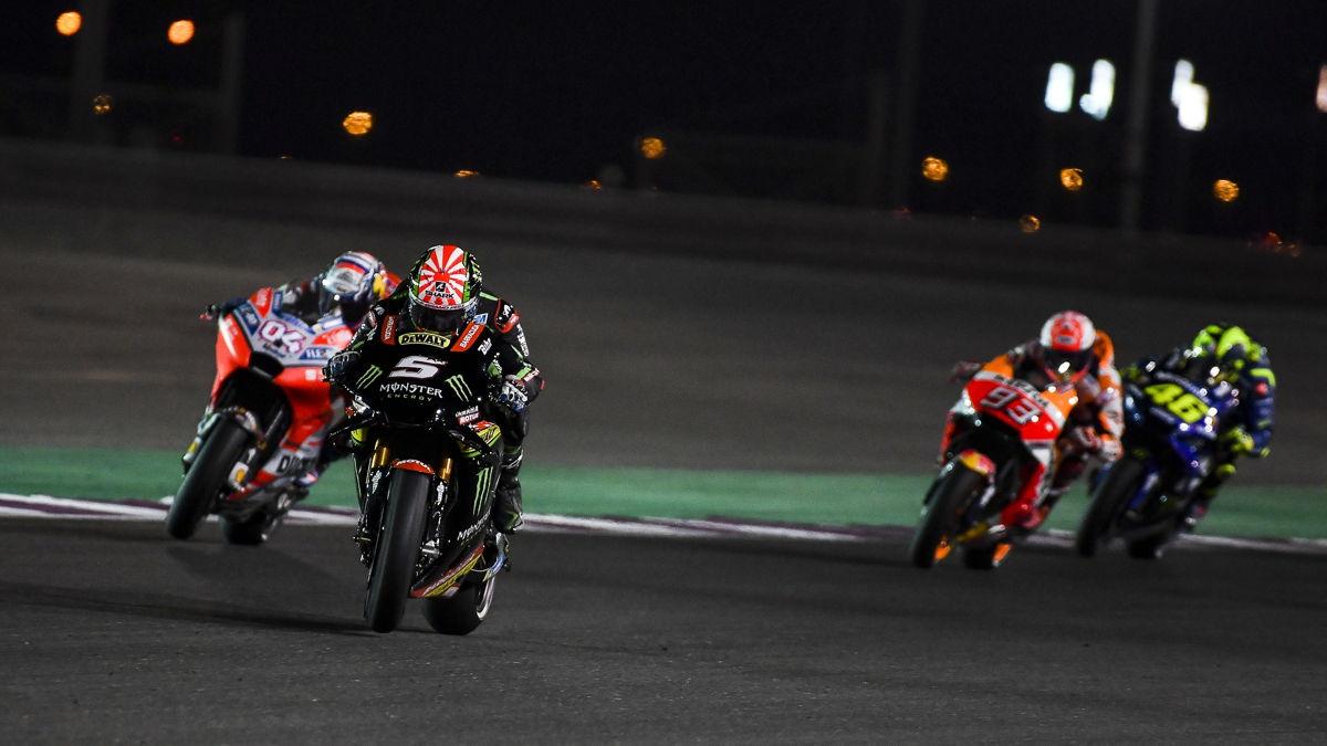 Johann Zarco durante el Gran Premio de Qatar de MotoGp