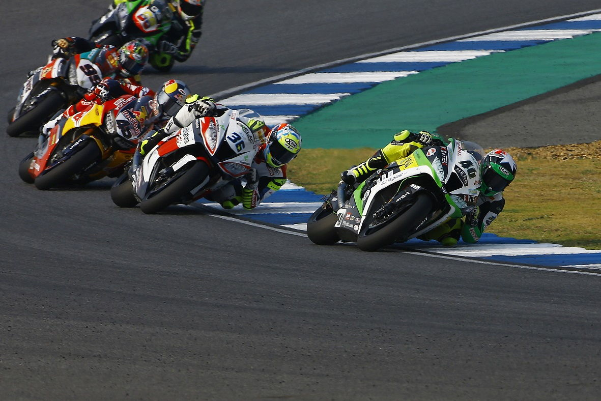 Román Ramos durante las carreras del Mundial de Superbike en Tailandia